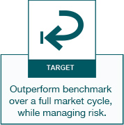 Target - Outperform benchmark over a full market cycle, while managing risk.