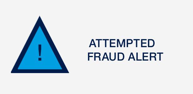 Attempted fraud alert
