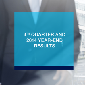 Q4 and annual results 2014: an increase of 11.4% of assets under management compared to end-2013