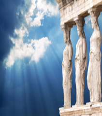 Greek statues and sky