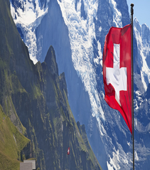 Swiss Flag Mountains