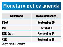 Emerging Countries - Monetary agenda