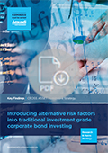 Key finding - Alternative risk factors int traditional investment grade corporate bond investing