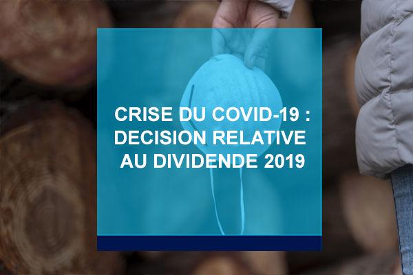 Décision du Conseil d'Administration d'Amundi concernant le dividende 2019