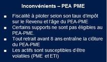 PEA PME inconvenients