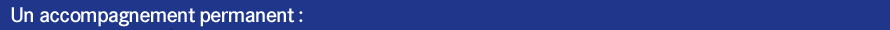 bandeau bleu accompagnement